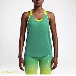 4/$20 Nike dri fit just do it neon tank size m